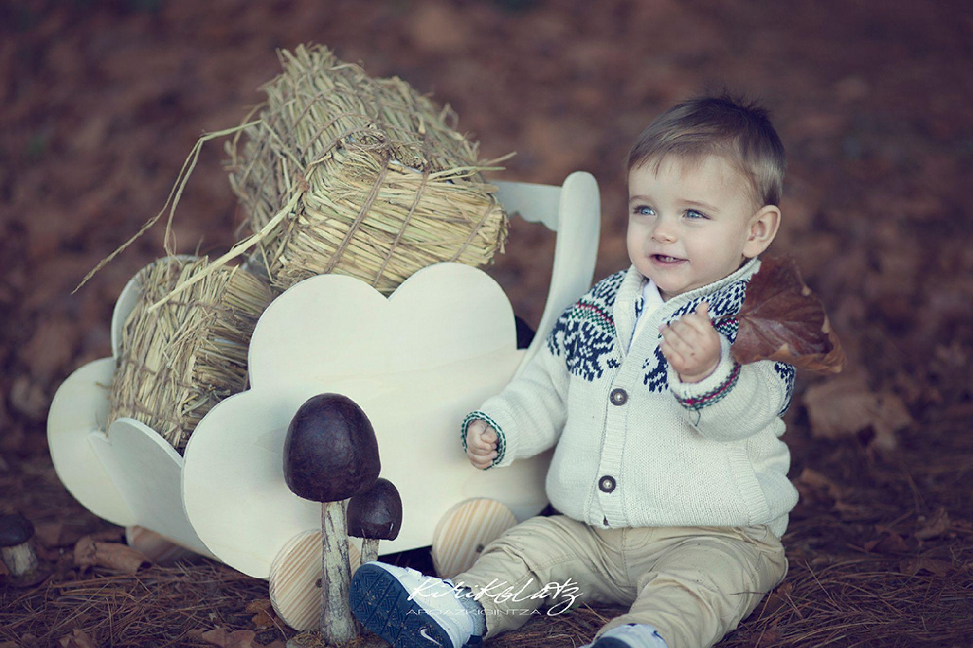 Fotos de bebé en exteriores, Ohian