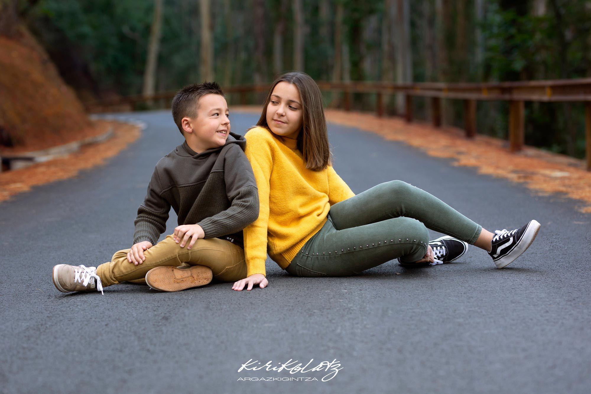 Familias Niños Otoño Fotos Bizkaia